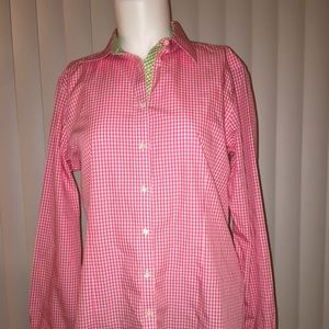 🆕BROOKS BROTHERS PINK GINGHAM BUTTON DOWN. NWOT